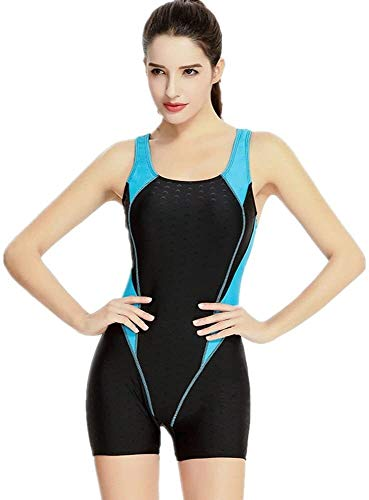 Vrouwen Swimwear, Sport Siamese Badpak Neopreen-Full Wetsuit Slim Sneldrogend Wetsuit For Zwemmen Waden Sports Spa (Size : L)