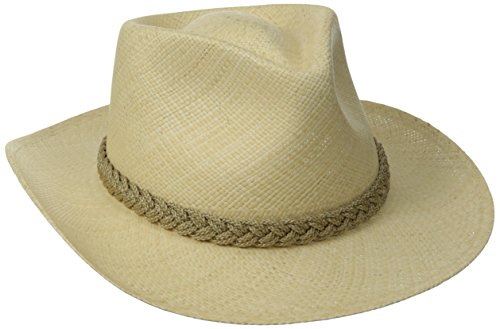 Scala Men's Panama Outback Hat, Natural, Large