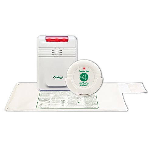 Smart Caregiver Monitor with Nurse Call Button and 10in x 30in Cordless Bed Exit Pad