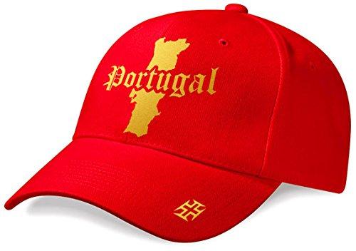DASHOP Casquette Portugal « Mini Pays » Rouge et Or Métallisé