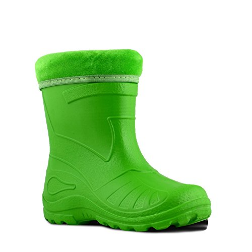 KOLMAX superleichte Eva Kinder Gummistiefel gefüttert 050 (30, grün)