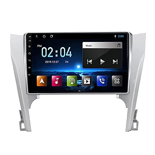 2 DIN Bluetooth Radio Coche Autoradio, con 9 Pulgadas HD Pantalla Táctil, Soporte Bluetooth/Mirror Link/FM/1080P Video/USB, para Toyota Camry 7 2012-2014,Quad Core,4G WiFi 2+32