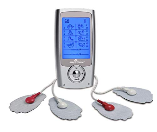 Easy@Home Rechargeable TENS Unit + EMS Muscle Stimulator, 2 Independent Channels, 20...