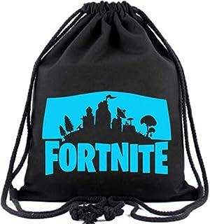 Fortnite Noctilucent Luminous casual Drawstring Bag Gym Sackpack School Travel Bagpack,black