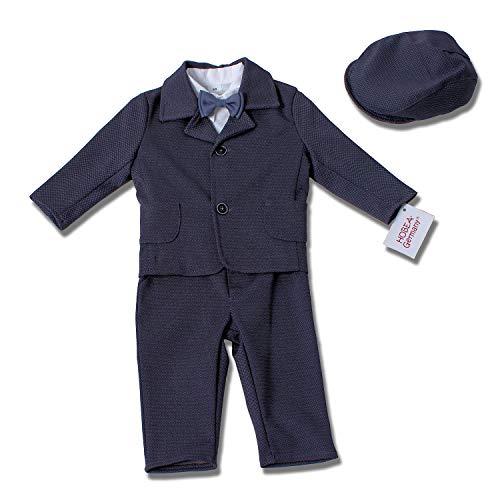 HOBEA-Germany Taufanzug Jungen, Taufkleidung Junge, Anzug Baby Junge für die Taufe für Babys und Kinder Design Elias, Größe 80