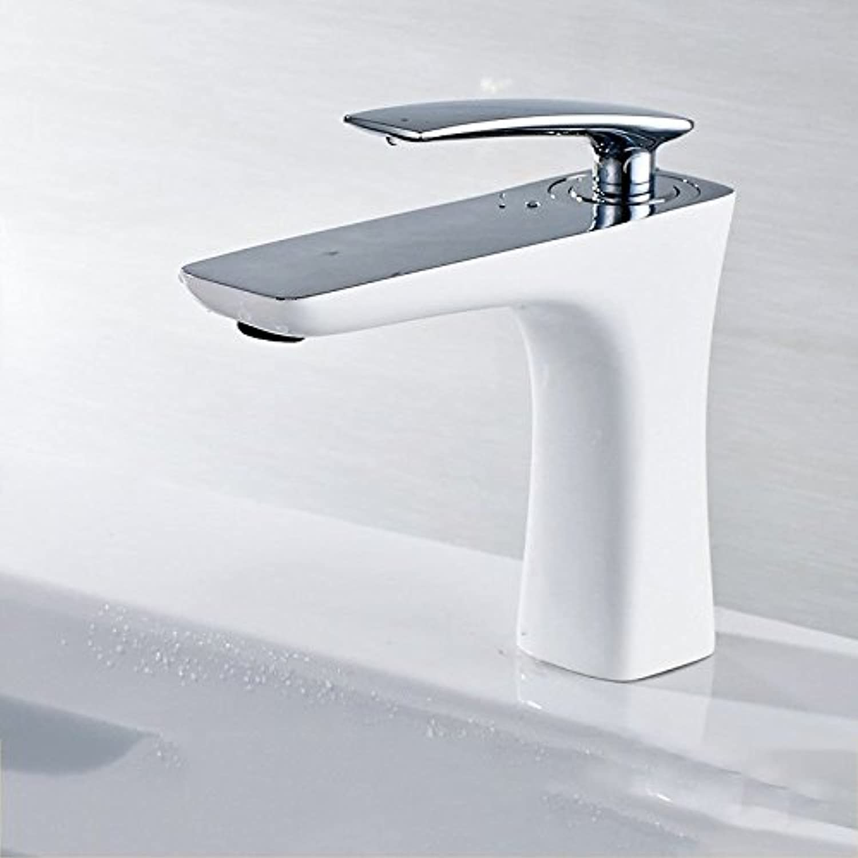 Gyps Faucet Basin Mixer Tap Waterfall Faucet Antique Bathroom Mixer Bar Mixer Shower Set Tap antique bathroom faucet Modern minimalist finish single handle single hole bathroom full copper basin white