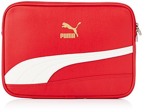PUMA Laptoptasche Bytes Laptop Sleeve, Haute red-Whisper White, S, 1 Liter, 071926 03