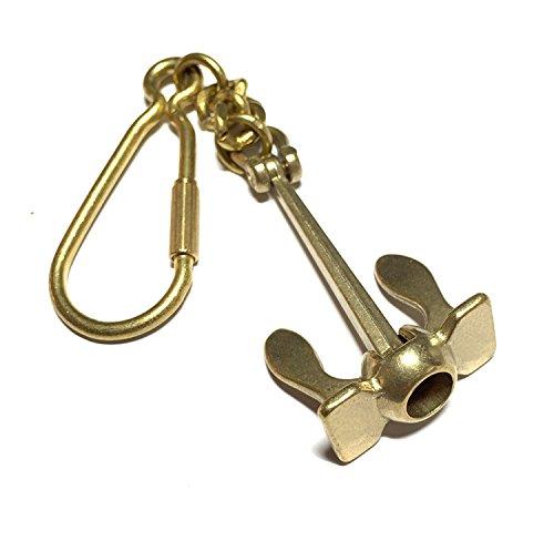 Asmara Maritime Schiffsanker, Messing, Metall-Schlüsselanhänger, schöner Schlüssel, Messinganker mit Handschelle
