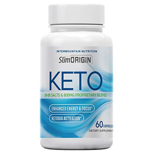 Slim Origin, Slim Origin Keto Pill, BHB Salts & 800 MG Proprietary Blend, Promotes Ketosis, The Official Brand Dietary Supplement
