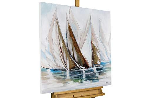 KunstLoft® Acryl Gemälde 'Auf hoher See' 80x80cm handgemalt Leinwand Bild