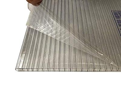 LEXAN® - Placas de Policarbonato Alveolar Celular - 8mm - Protección UV - Para Exteriores - Elige Medidas: (100 x 190 cm - Pack de 2, Transparente)