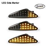 Intermitentes laterales LED OZ-LAMPE 2 X dinámica LED Intermitentes laterales ámbar 27 SMD con no polaridad CAN-bus Libre de errores OE Socket Smoke para BM-W E70 X5 E71 X6 F25 X3