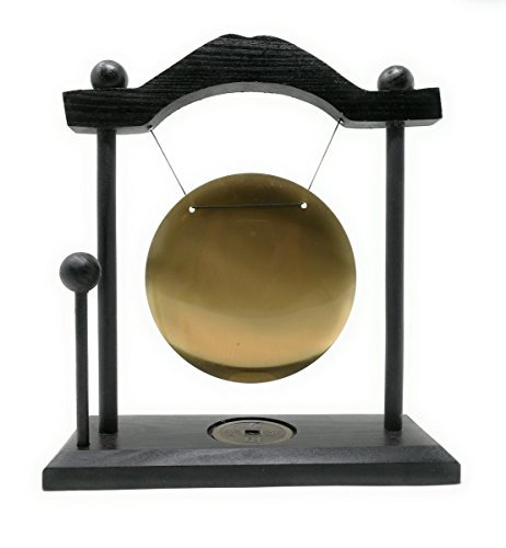 THY COLLECTIBLES Zen Art Brass Feng Shui Desktop Gong with Rammer