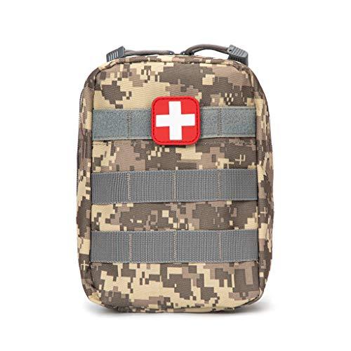 Jipemtra Taktische Erste-Hilfe-Tasche MOLLE-EMT-IFAK Tasche Trauma Erste-Hilfe-Responder Medizinische Notfall-Tasche Militär Taktische Tasche Kleine Armee-Tasche für Outdoor Wandern Camping, ACU