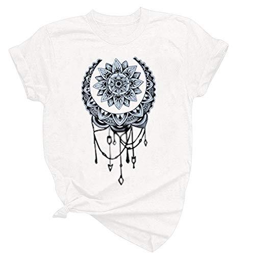 2021 Nuevo Camiseta Mujer Verano Moda Manga Corta Animal impresión Fresco Camisa Talla Grande Cuello Redondo Basica Retro Camiseta Larga Suelto Tops Casual Fiesta T-Shirt Original tee