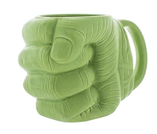 Infinitamente Great Home Decor Center New Official Marvel Avengers Hulk Puño en forma de taza de café de cerámica 3D
