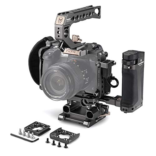 TILTA TA-T37-C-G GH Series Kit C Camara Cage Jaula de la cámara para Panasonic GH4 GH5 GH5s Series Tiltaing Rig (Tilta Grey) (GH Series Kit C)