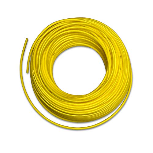 Food Grade 1/4 Inch Plastic Tubing for RO Water Filter System, Aquariums, Refrigerators, ECT; BPA free; Made from FDA compliant materials and meets NSF Standards and Regulations (100 Feet, Yellow)