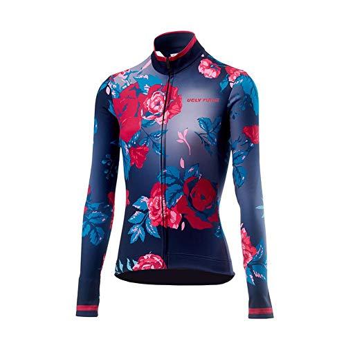 Uglyfrog Damen Fahrradtrikot Langarm Pro T - Radtrikot - Jersey - Reißverschluss - Atmungsaktiv - Schnelltrocknend - Reflektoren