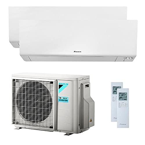 Climatizzatore Dual Split 9000 + 12000 Btu, Inverter, Classe A+++/A+++ Gas R32 Wi-Fi Perfera 2MXM40M+FTXM25/35N