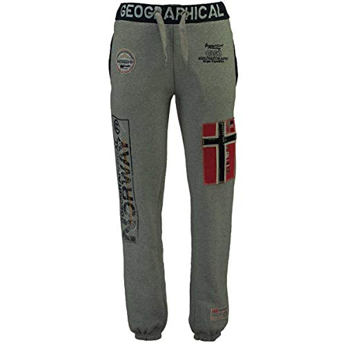 Geographical Norway Herren Jogginghose Myer Jogg-Pants mit Patches Dark Grey M