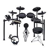 Alesis Drums Nitro Mesh Kit Bundle Plus: paquete completo para batería eléctrica con 10 parches elec-trónicos, taburete, auriculares y baquetas