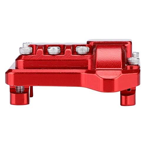 DAUERHAFT Cubierta de diferencial de Cubierta de Eje RC para Proceso de mecanizado CNC Traxxas para 1:10 RC(Red)