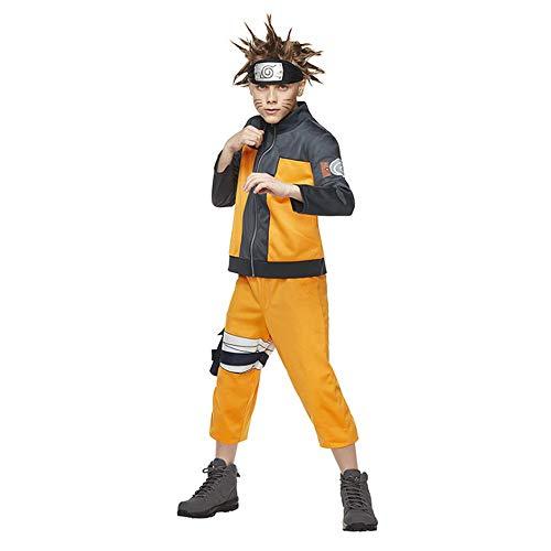Petainer Disfraz Anime Naruto Uzumaki Nios Cosplay Costume (140-150)