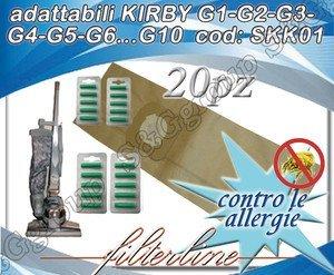 S&G group 20 SACCHETTI + 20 PROFUMATORI CARTA ADATTABILI KIRBY G1-G2-G3-G4-G5-G6.G10 GARAMTITI