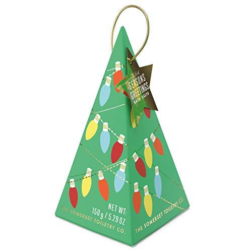 La société de toilette Somerset - Saisons parfumées Salutations Sels de bain Menthe verte herbacée et romarin Sapin de Noël vert - 5.29 oz.