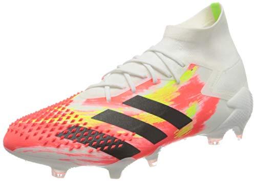 adidas Predator MUTATOR 20.1 FG, Scarpe da Calcio Uomo, Ftwr White/Core Black/Pop, 42 2/3 EU