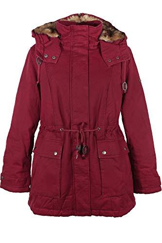 Sheego Outdoorjacke Parka Jacke Mantel Winterjacke Fellkragen Damen Plusgröße, Farbe:Bordeaux, Damengrößen:48