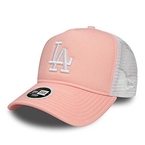 New Era WMNS Leag Esnt Trucker Damen Adjustable Cap LA Dodgers Rosa Weiß, Size:ONE Size