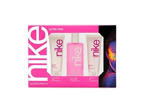 Nike - Ultra Pink Estuche de Regalo para Mujer, Eau de Toilette 100 ml, Gel de Baño 75 ml y Body Lotion 75 ml