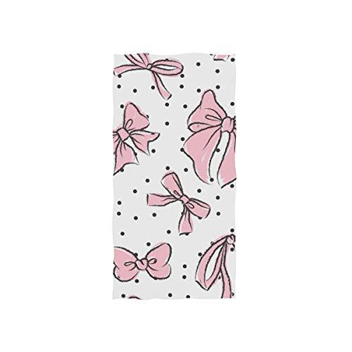 Alaza, toalla de microfibra para gimnasio, lindos lazos, de secado rápido, para deportes, fitness, sudor, toalla facial, 38 x 76 cm