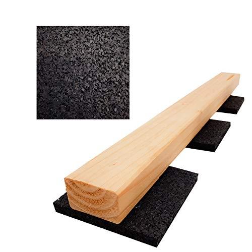 My Plast 100 pièces 10 mm, terrassenpads, terrasses Construction en granulés de Caoutchouc, Noir