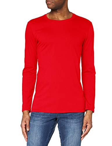 Gildan Soft Style L/Sleeve T Shirt, Red, M Homme