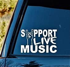 Yilooom Support Live Music Decal StickerM1049 Marching Band Guitar Bass Tumbler Art