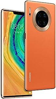 "HUAWEI Mate 30 Pro 5G Smartphone,Dual SIM, 256GB, 8GB RAM,40MP,4500mAh, 6.53"" Display - Vegan Leather Orange"