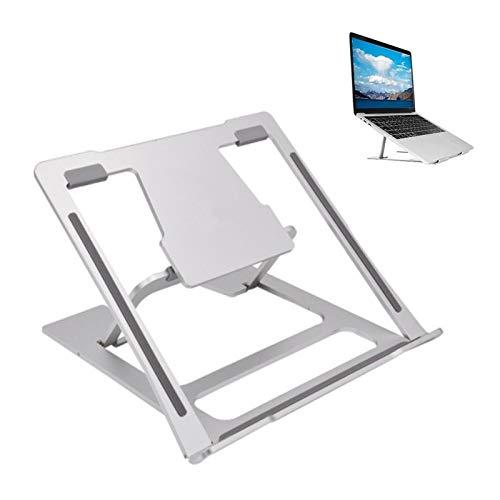 ERTYU Aluminum Laptop Stand Raiser Foldable, 6 Heights Adjustable Laptop Lift Bracket Ergonomic Ventilated Laptop Holder for 7-15 Inches Laptops