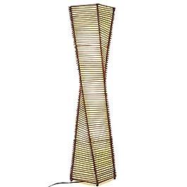 Allamp Lampadaire en rotin à la main créative Lampe standard for Salon Chambre Salle à manger – Commutateur de pied Pour…