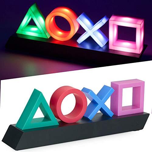 Playstation Icons Light Voice Control Music Reactive Game Room Lighting Acrylic,Living Room, Bedroom,Acrylic Atmosphere Neon Bar Lamp Club KTV Decorative Ornament. Illinois