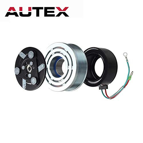 AUTEX AC A/C Compressor Clutch Coil Assembly Kit 80221SWAA02 38810RRBA01 4918U1 Replacement for Honda Civic 2006 2007 2008 2009 2010 2011 1.8L