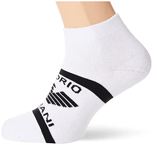 Emporio Armani Underwear In-Shoe Socks Set 2Pack Sporty Calcetines (2 Unidades), Negro/Blanco, Talla única para Hombre