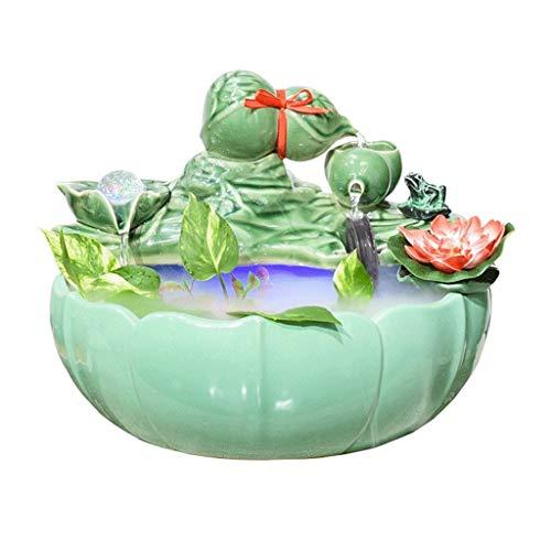 Kreativer Schreibtischbrunnen aus Keramik, dreilagig, für Wohnzimmer, Zuhause,...