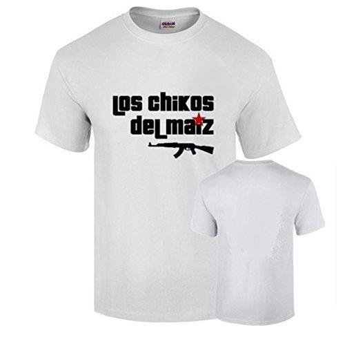 Camisetas Los Chicos del Maiz Blanca Rap Podemos Algodon 190grs (L)