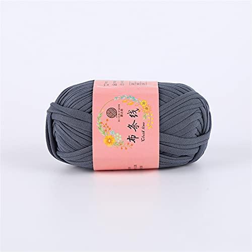 ACEACE T Shirt Hilos voluminosos para Tejer a Mano Alfombra de Tejer Trampa de Punto Crochet Bricolaje Mueble de Bolso Manta Suave Gruesa Tela trapillo Hilado (Color : 09)