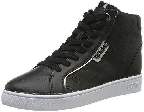 Guess Brina/Stivaletto (Bootie)/Leat, Sneaker a Collo Alto Donna, Nero (Black Black), 39 EU