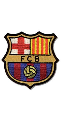 Haberdashery Online Parche Termoadhesivo Barça Oficial. Escudo F.C. Barcelona Bordado. Insignia Barça...