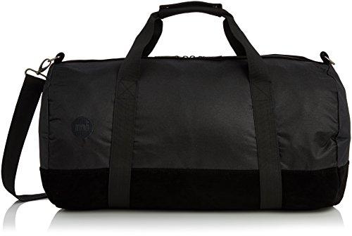 Mi Pac Duffel Bag - Quality Holdall Weekender Travel Bag, Flight Bag or Gym Bag | Water Resistant Fabric with Removable Shoulder Bag Strap for Men & Women - All Black 30L
